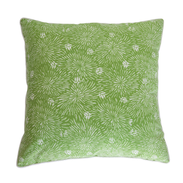 Outdoor Green and White Fireworks Pillow