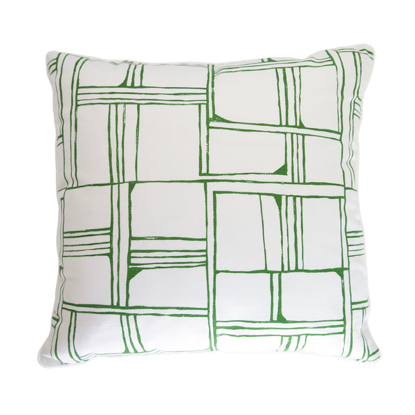 Outdoor Green Block Pillow
