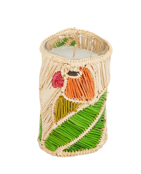 Raffia Parrot Candle Holder