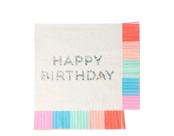Meri Meri Birthday Fringe Small Napkins