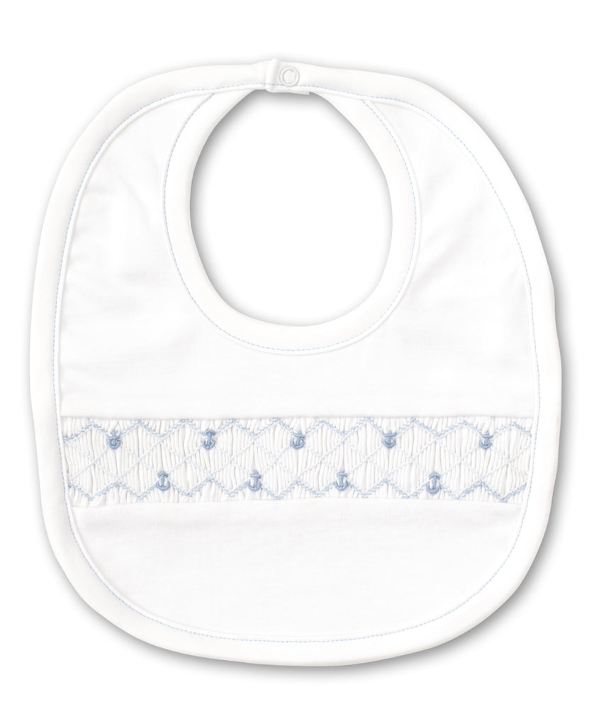 Summer Anchors Bib White/ Light Blue