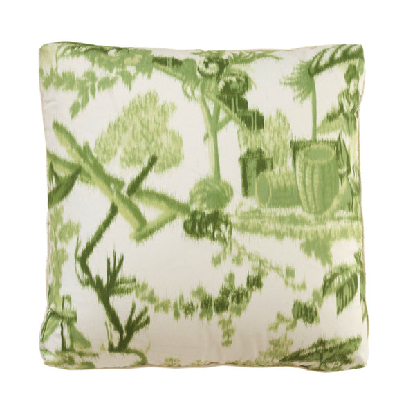 Green Chinoise Pillow