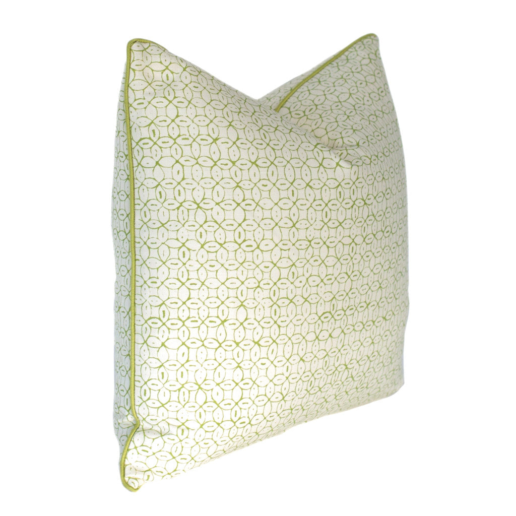 Green Batik Link Pillow