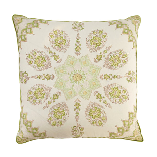 Green Medallion Pillow