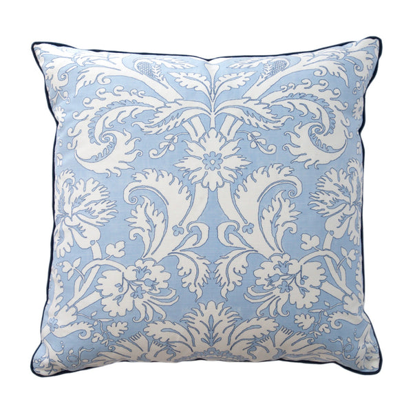 Baby Blue Floral Vine Pillow