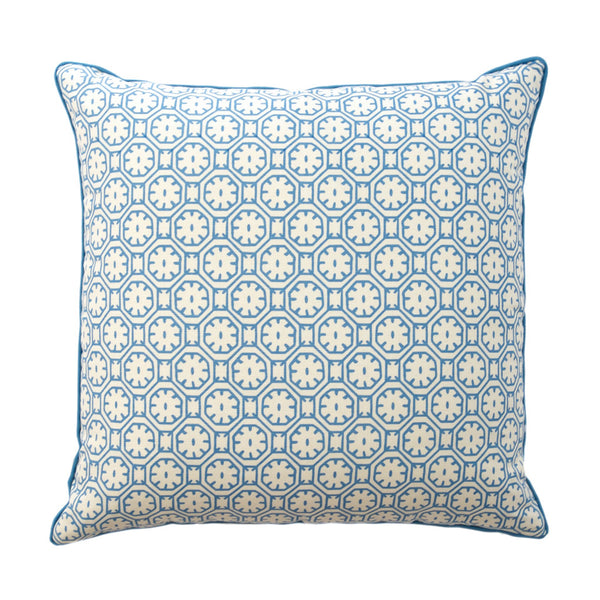 China Blue Medallion Pillow