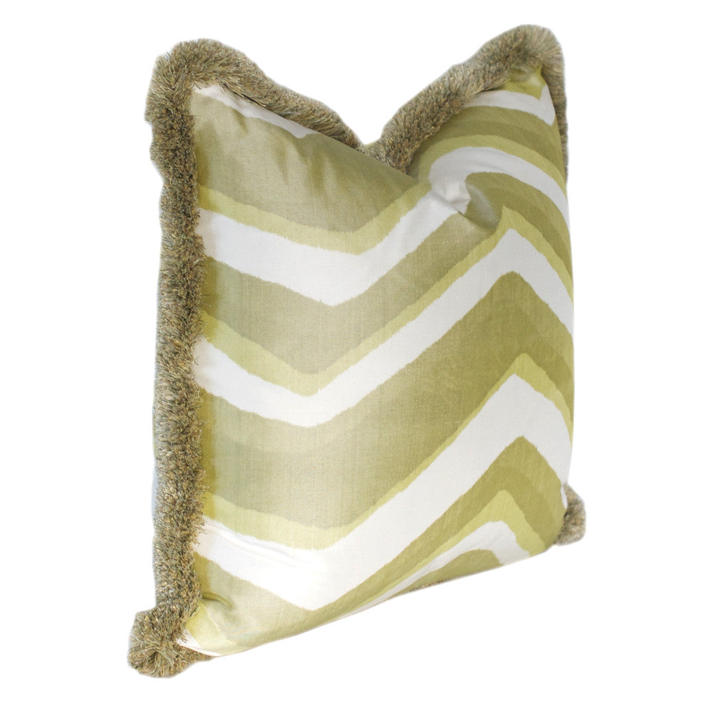 Garden Green Chevron Pillow