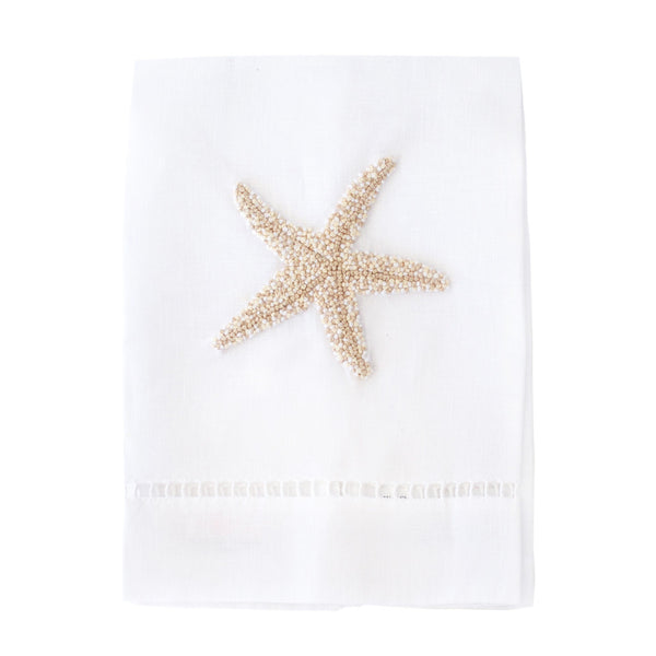Cream Starfish Tip Towel