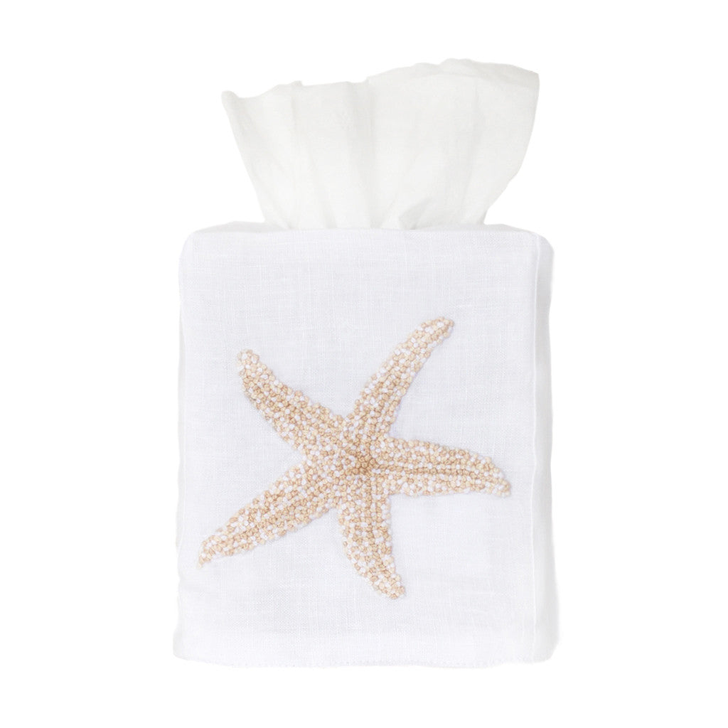 Cream Starfish Tissue Box Cover