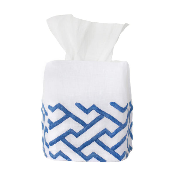 Blue Shanghai Tissue Box Cover