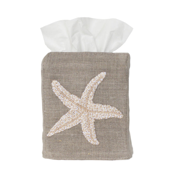 Flax Starfish Tissue Box Cover