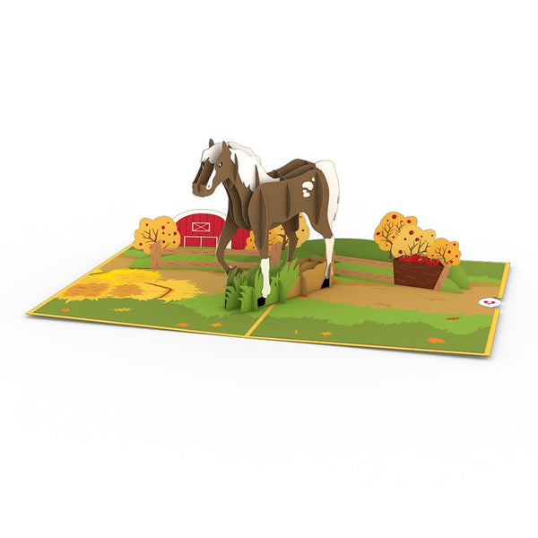 Pop Up Card, Horses