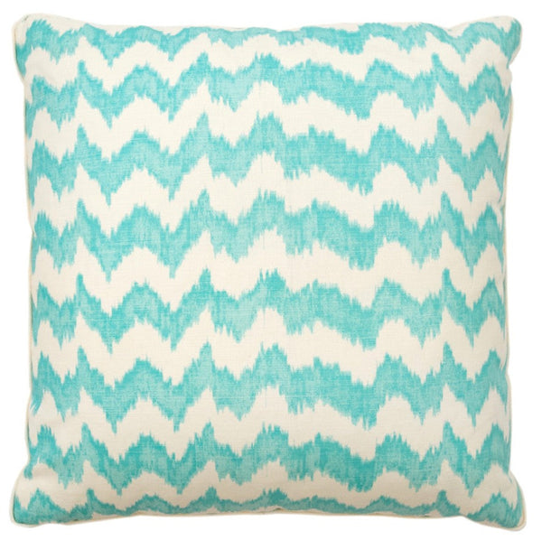 Aqua Chevron Pillow