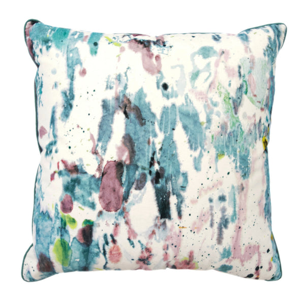 Velvet Watercolor Pillow