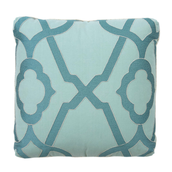 Aqua Trellis Pillow
