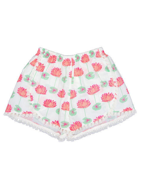 Almirah Girl's Beach Shorts, Lotus