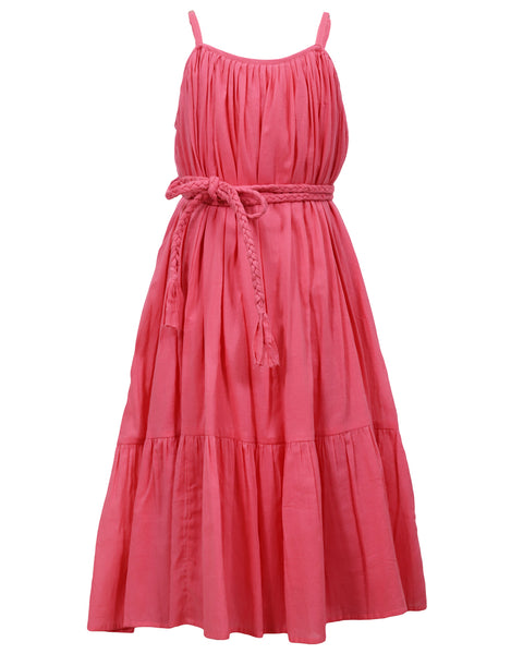 Benaras Girls' Gypsy Braided Belt Dress