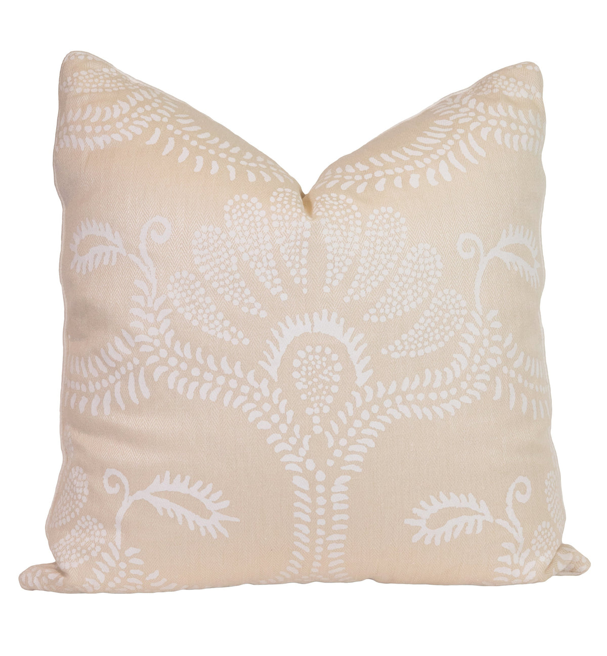 Cream Paisley Fern Pillow