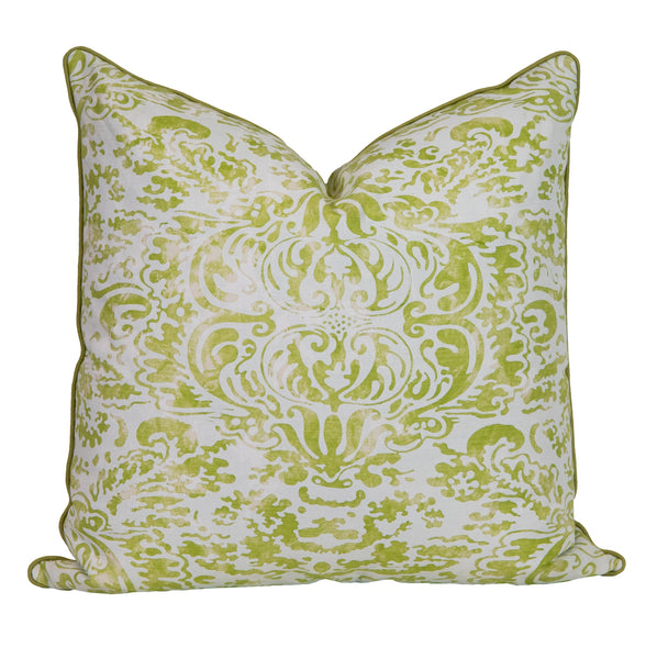 San Marco Green Down Throw Pillow