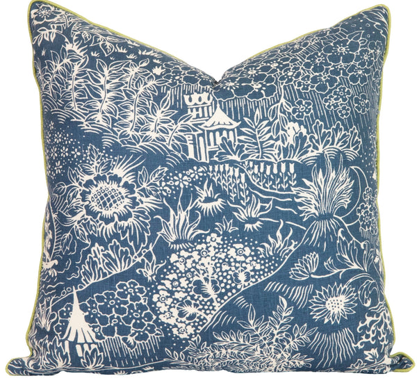 Indigo Storybook Pillow