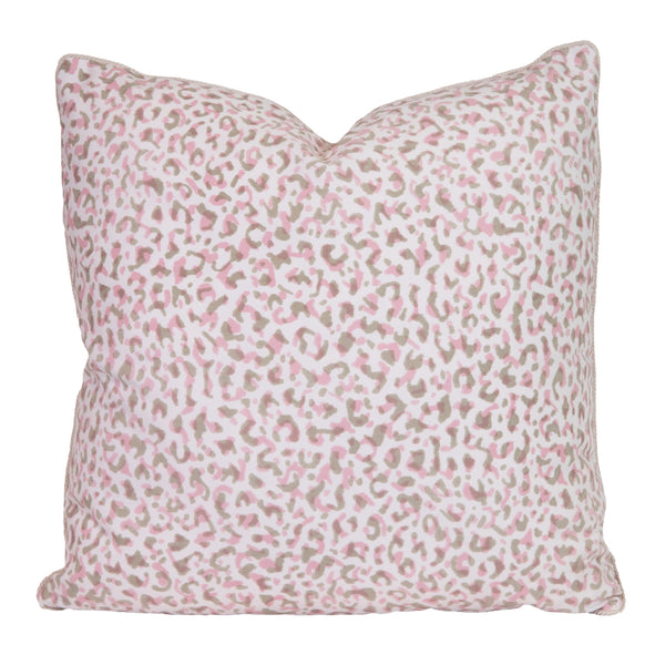 Outdoor Pink & Tan Leopardo Pillow