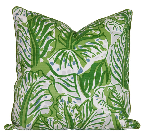Outdoor Green Leaf Pillow