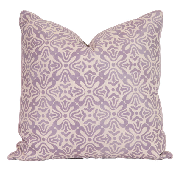 Lilac Tulip Natural Linen Pillow