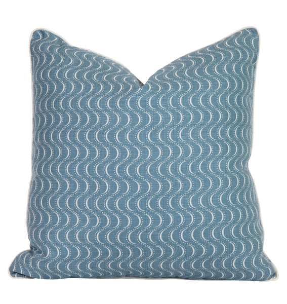 Ondine Prussian Blue Pillow