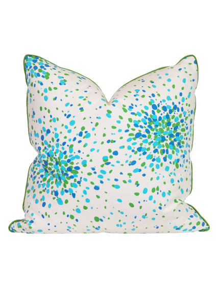 Turquoise Jelly Bean Pillow