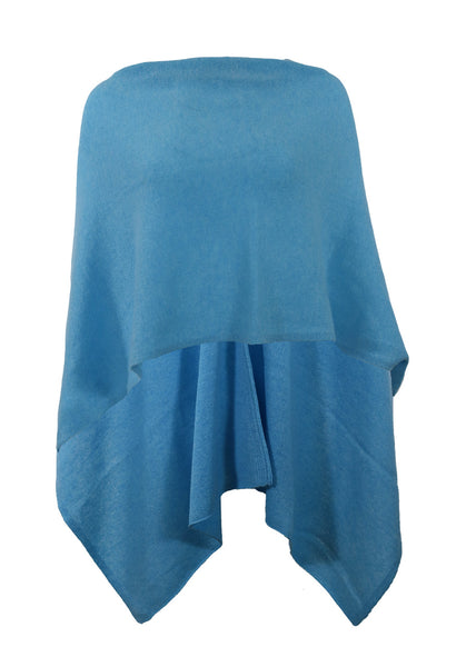 Alashan Cashmere Draped Dress Topper, Bahama Blue, 100% Cashmere