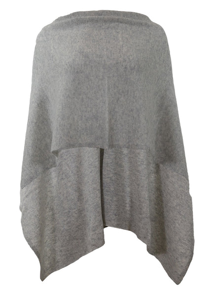 Alashan Cashmere Draped Dress Topper, Ash, 100% Cashmere