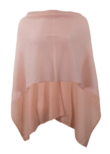 Alashan Cashmere Draped Dress Topper, Blush, 100% Cashmere