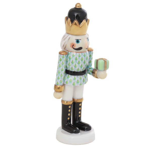 Herend Nutcracker with Gift, Key Lime Green
