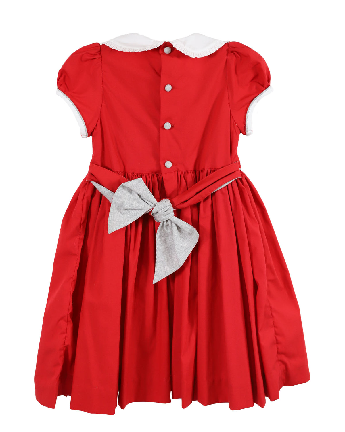 Eloise Red Balloon Sleeve Dress