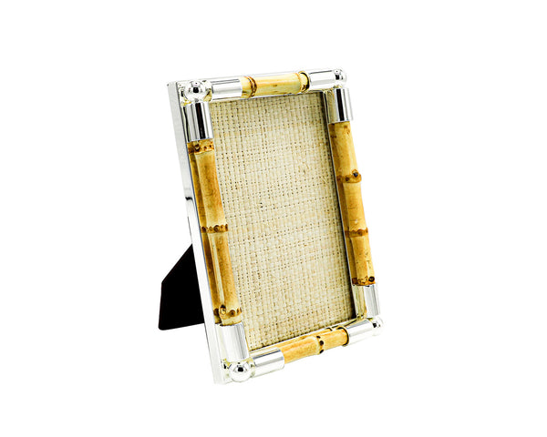 4 x 6 Tizo Bamboo Silver Plated Picture Frame