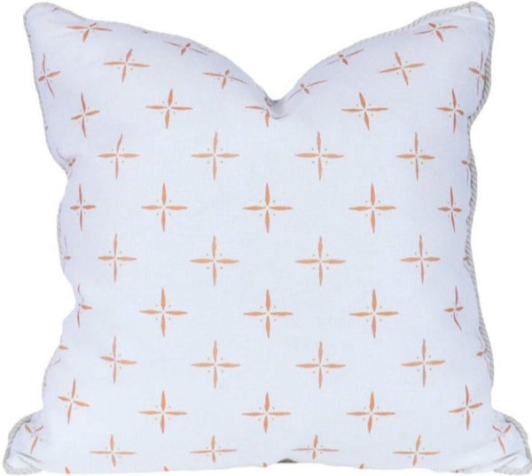 Petite Cross and Dot Peach Pillow
