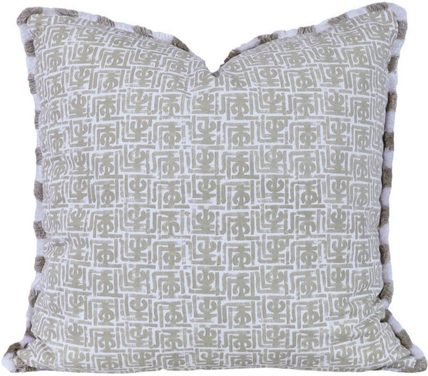 Kalimba Outdoor Pillow with Brush Fringe