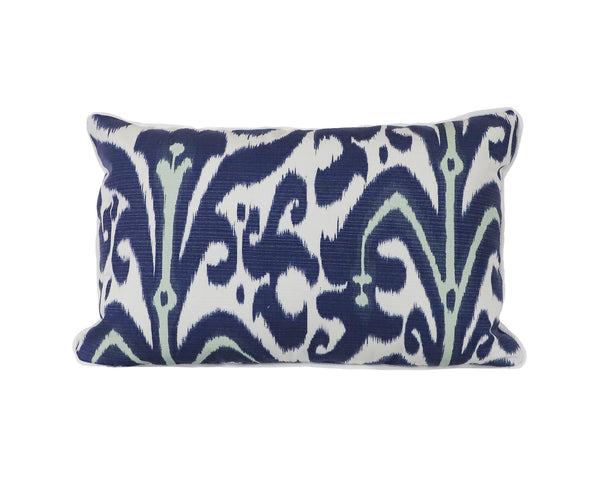 Belfour in Indigo Outdoor Pillow