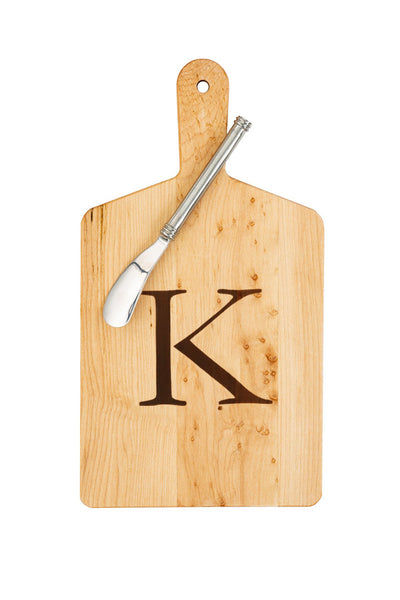 "Maple cheese board ""K"""