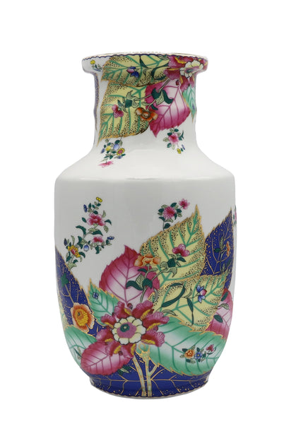 White Tobacco Leaf Porcelain Vase