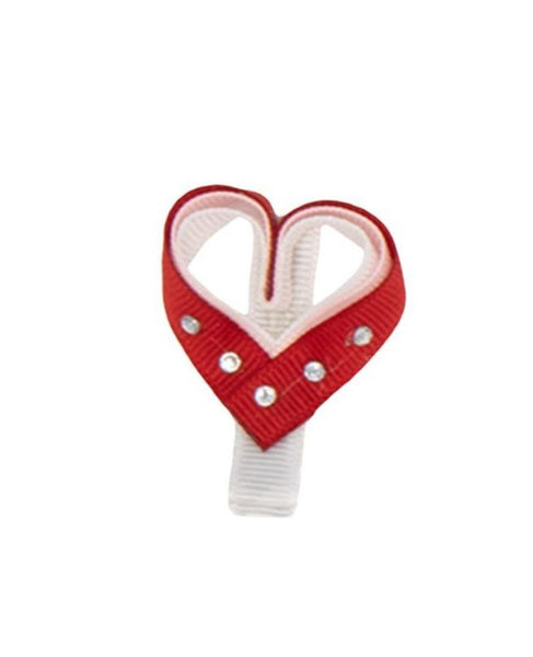 Red Heart Hair Clip