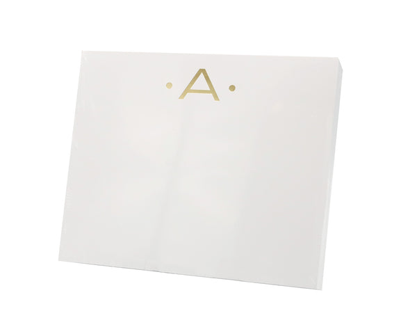 Large Initial Notepad, Gold Foil