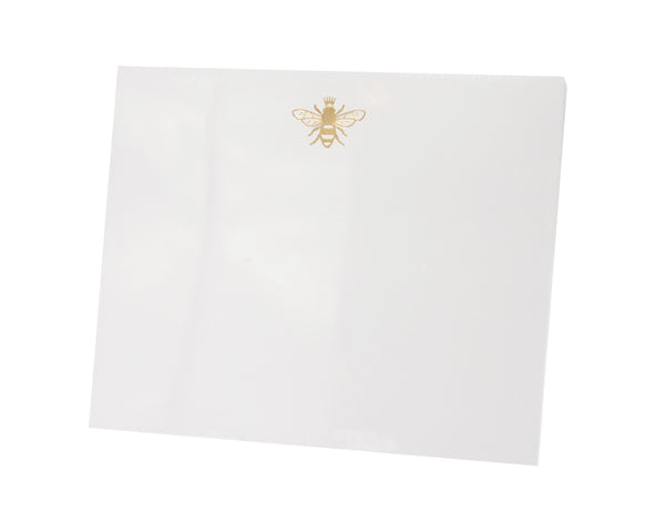 Bumble Bee Large Notepad, Gold Foil