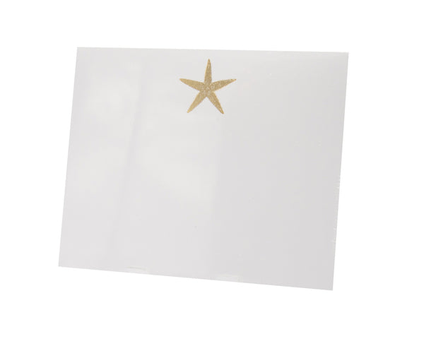Starfish Large Notepad, Gold Foil