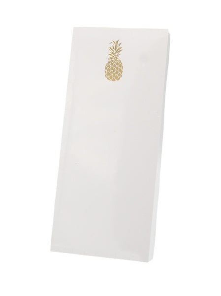Pineapple Skinny Notepad, Gold Foil