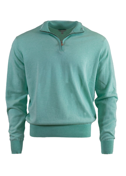 Peter Millar Birdseye Quarter-Zip Sweater