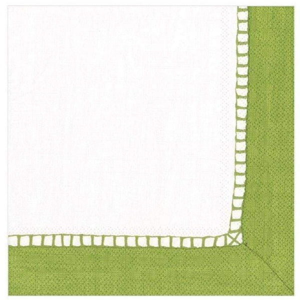 Linen Bright Green Cocktail Napkins