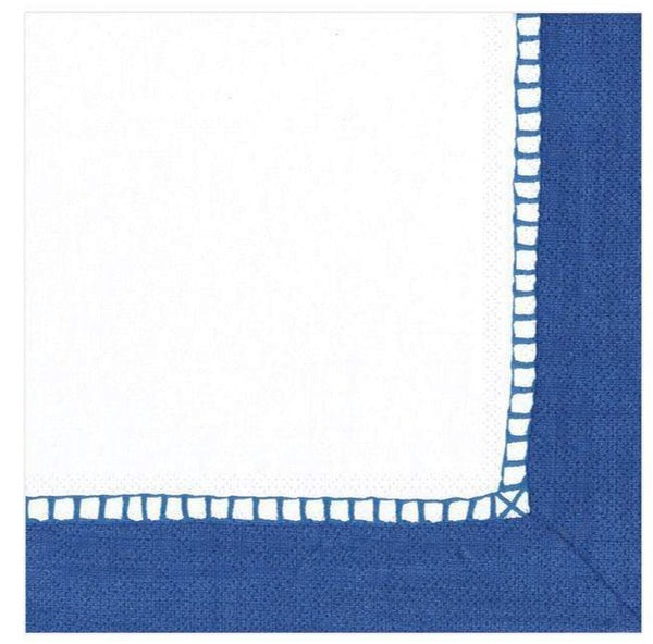 Linen Marine Blue Cocktail Napkin