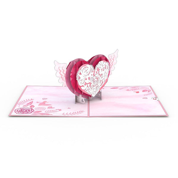Pop Up Card, Winged Heart