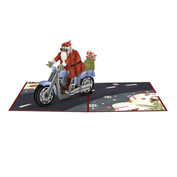 Pop Up Card, Santa Biker